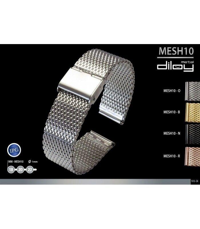 Pulseiras metálicas para relógio, Diloy MESH10