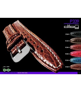 Leather watch strap, Diloy P339