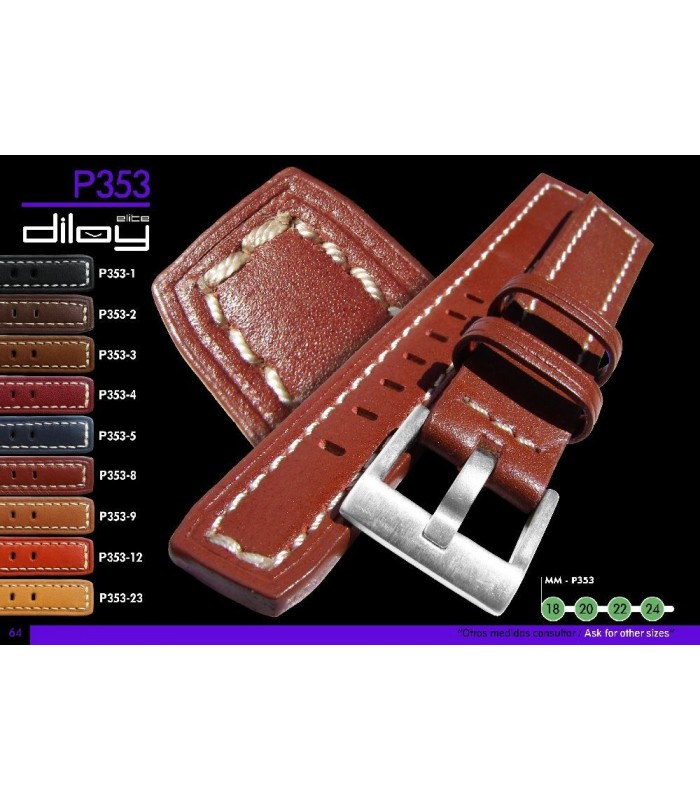 Leather watch strap, Diloy P353