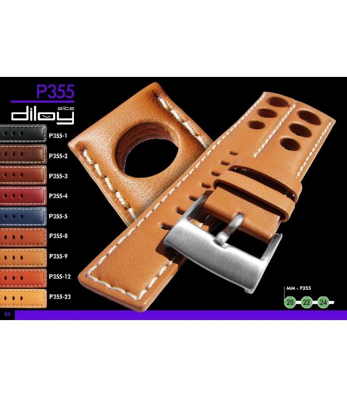 Leather watch strap, Diloy P355