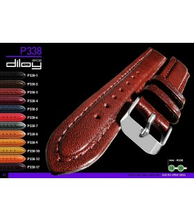 Leather watch strap, Diloy P338
