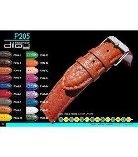 Correa extra larga de piel para reloj, Diloy P205EL