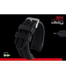 Bracelets pour montres en silicone, Diloy BR19