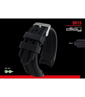 Silicone watch strap, Diloy BR19