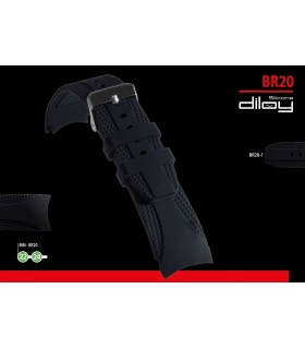 Silicone watch strap, Diloy BR20