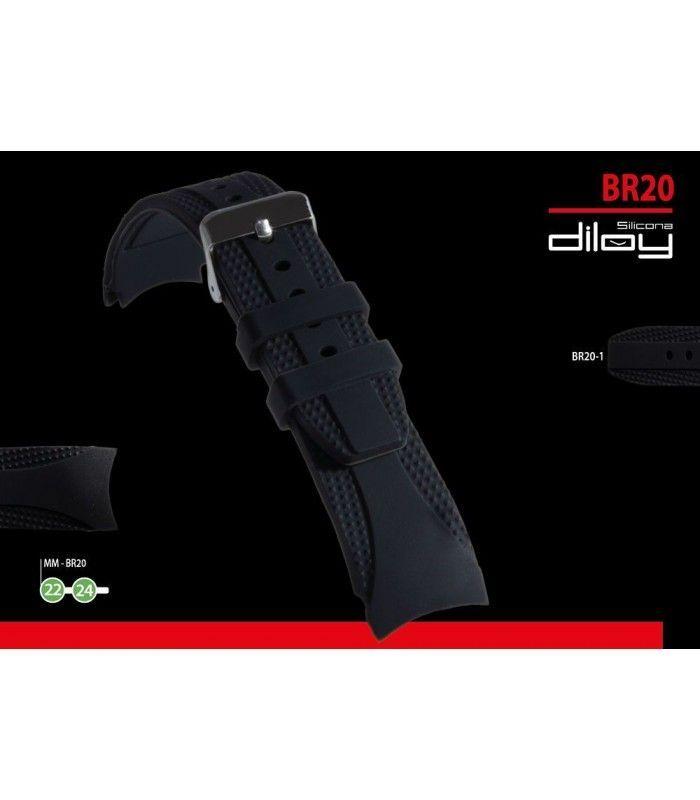 Pulseiras de silicone para relógio, Diloy BR20