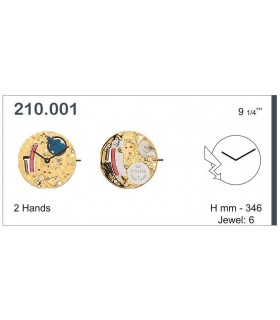Movement for watches, ETA 210.001