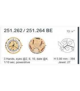 vements de montre, ETA251.262
