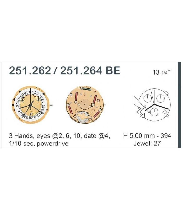 Meccanismo Orologio Ref ETA251262