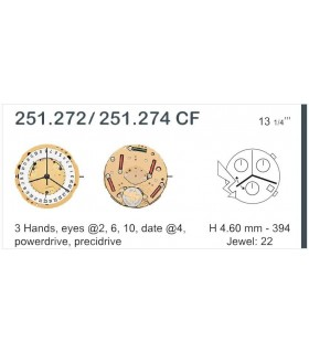 Movement for watches, ETA 251.272