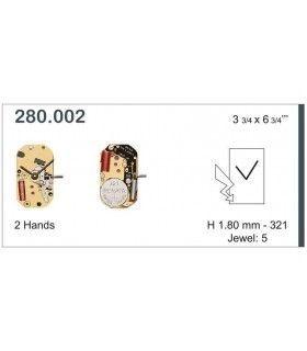 Máquinas ou movimentos para relógio, ETA 280.002