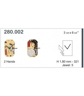 Meccanismo Orologio Ref ETA280002