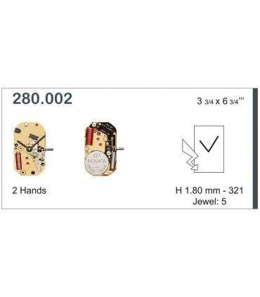 Maquinaria de reloj Ref ETA280002