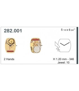 Movement for watches, ETA 282.001