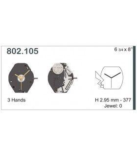 Máquinas ou movimentos para relógio, ETA 802.105