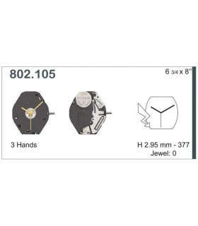 vements de montre, ETA802.105