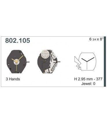 Maquinaria de reloj Ref ETA802105