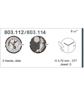 Movement for watches, ETA 803.114