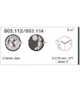 Máquina o movimiento para reloj ETA 803.114