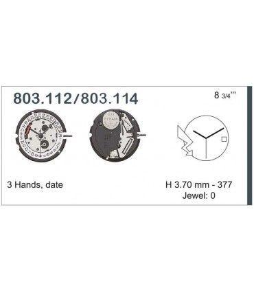 Maquinaria de reloj Ref ETA803114