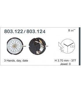 Máquinas ou movimentos para relógio, ETA 803.124