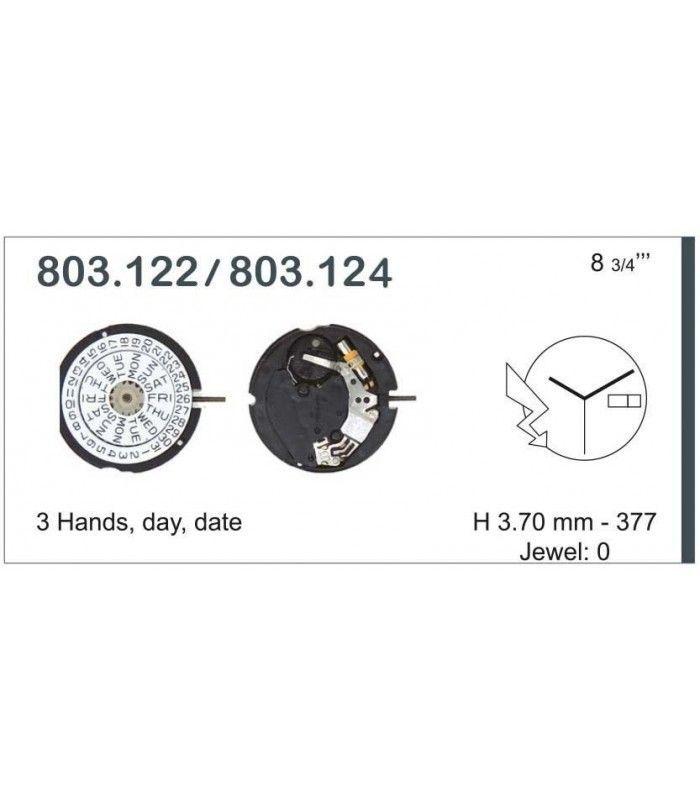 vements de montre, ETA803.124