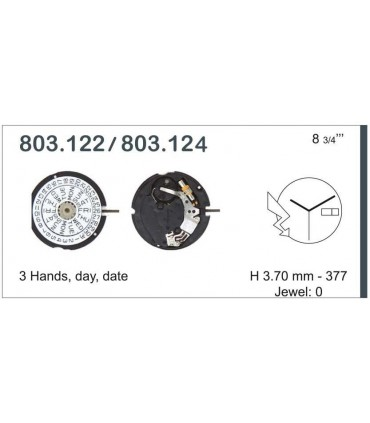 Mecanisme montre Ref ETA803124