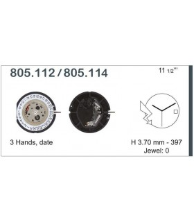 Movement for watches, ETA 805.114