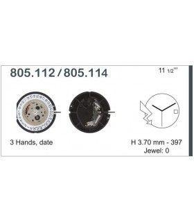 Máquinas ou movimentos para relógio, ETA 805.114