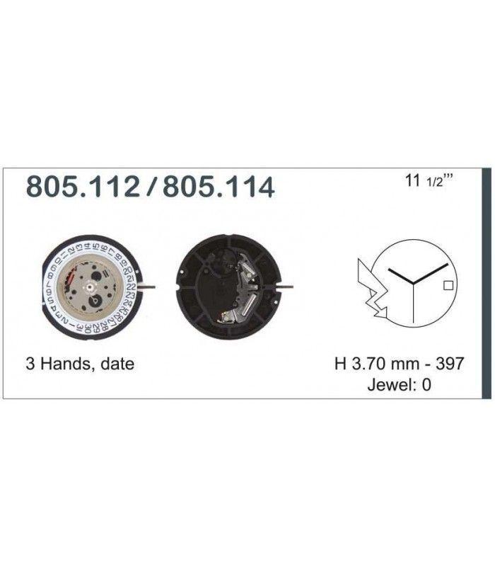 Máquina o movimiento para reloj ETA 805.114