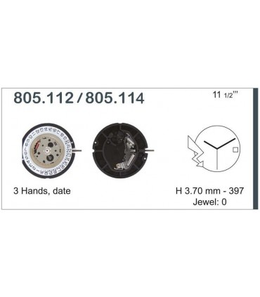 Uhrwerke Ref ETA805114