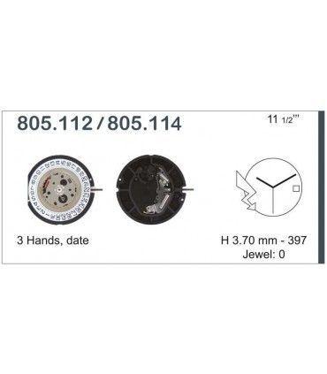Watch Movement Ref ETA805114