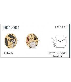 Máquinas ou movimentos para relógio, ETA 901.001