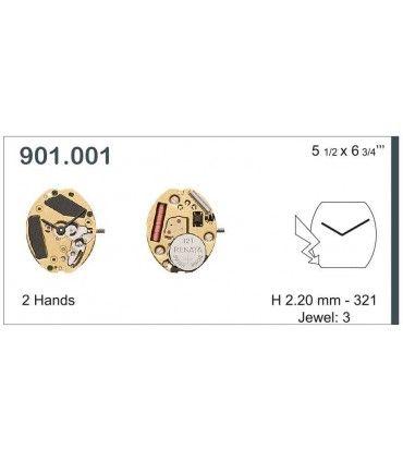 Maquinaria de reloj Ref ETA901001