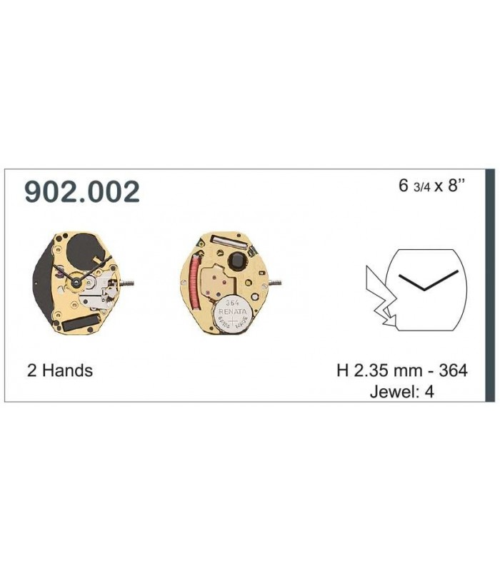 Movement for watches, ETA 902.002