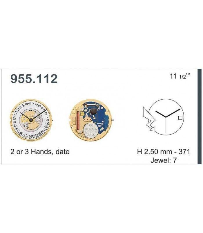 Máquinas ou movimentos para relógio, ETA 955.112