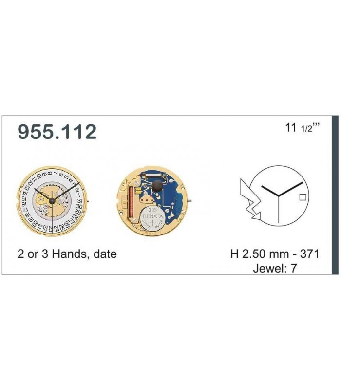 Uhrwerke, ETA 955.112