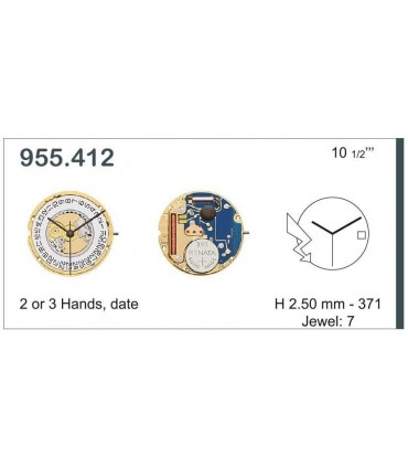 Meccanismo Orologio Ref ETA955412