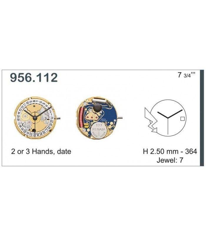 Máquinas ou movimentos para relógio, ETA 956.112