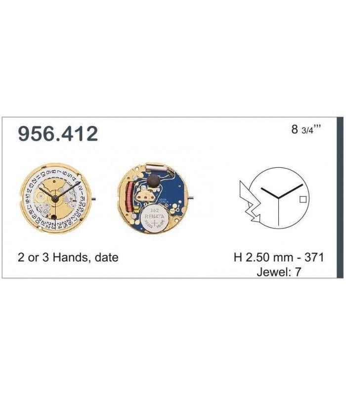 Máquinas ou movimentos para relógio, ETA 956.412
