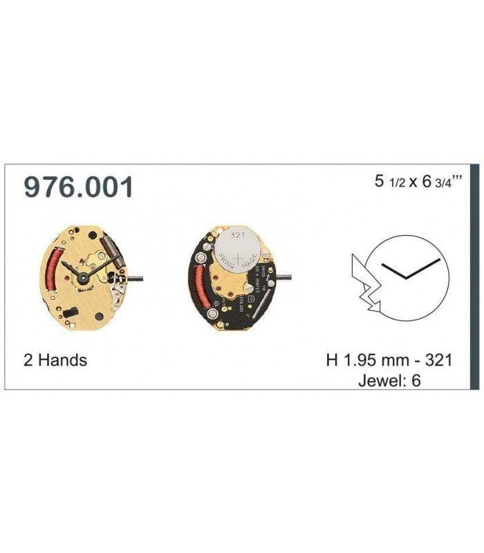Máquina o movimiento para reloj ETA 976.001
