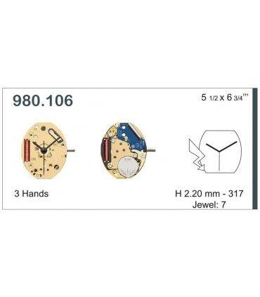 Watch Movement ETA 980.106