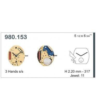 Mecanisme montre Ref ETA980153