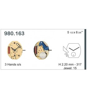 Uhrwerke Ref ETA980163