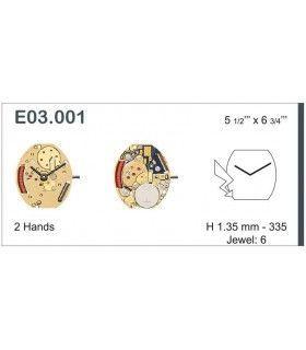 Maquinaria de reloj Ref ETAE03001