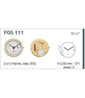 Máquina o movimiento para reloj ETA F05.111