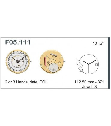 Maquinaria de reloj Ref ETAF05111