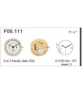 Máquina o movimiento para reloj ETA F06.111