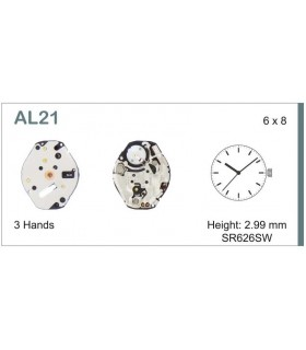 Movement for watches, HATTORI AL21