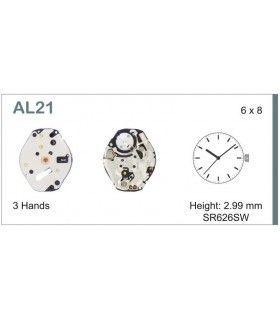 Máquinas ou movimentos para relógio, HATTORI AL21